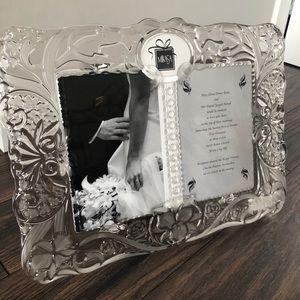 Mikasa crystal wedding frame